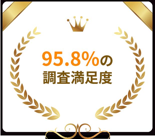 95.8%の調査満足度