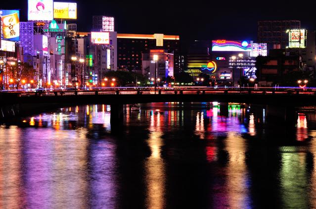 福岡を代表する夜の街「中洲」