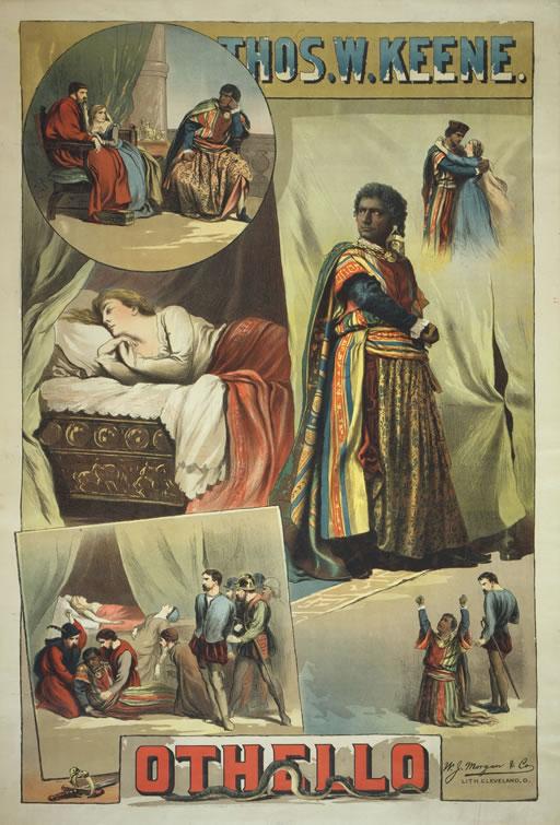 シェイクスピア「オセロ」のポスター(1884)